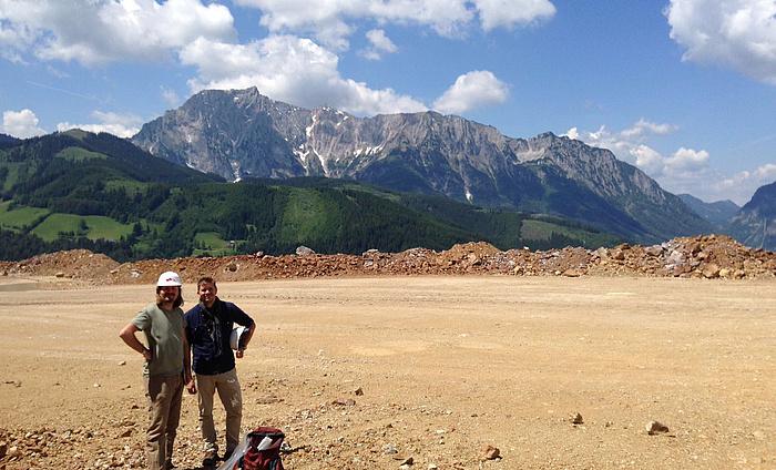 Foto von Ronny Boch und Oliver Nebel am Erzberg.