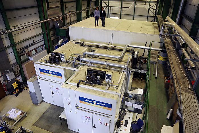 Die drei Klimakammern am Institut für Wärmetechnik der TU Graz.