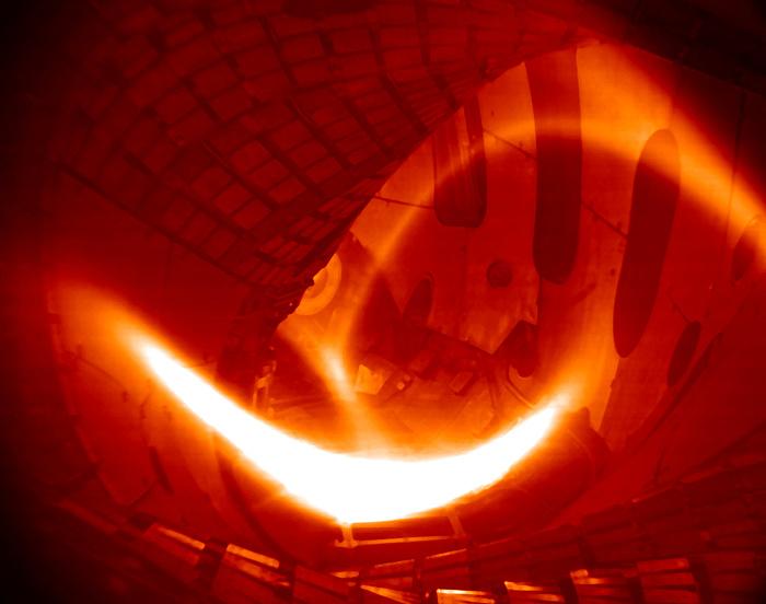 Wasserstoff-Plasma in Wendelstein 7-X.