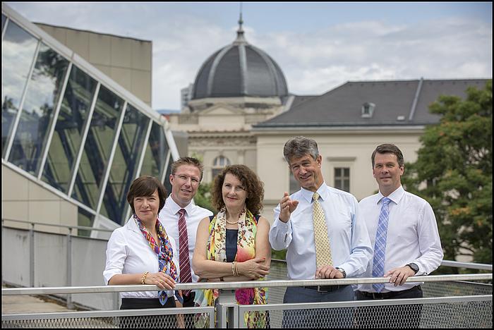 The rectorate's team of TU Graz.