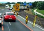 Autobahn mit Verkehr