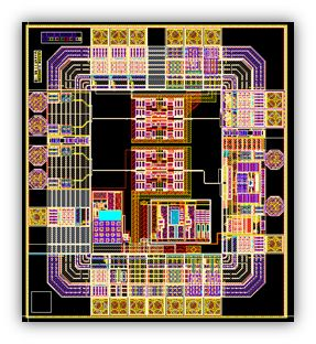 layout of a microchip