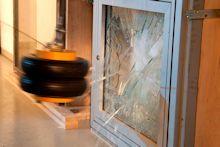 Pendelschlag-Versuch, Fenster, Flachglas Prüfung