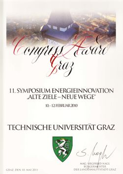 Urkunde Congress Award Graz