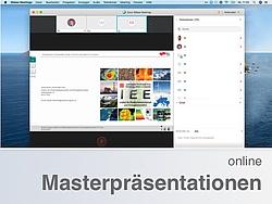 Videokonferenzfenster mit freigegebener Präsentation.