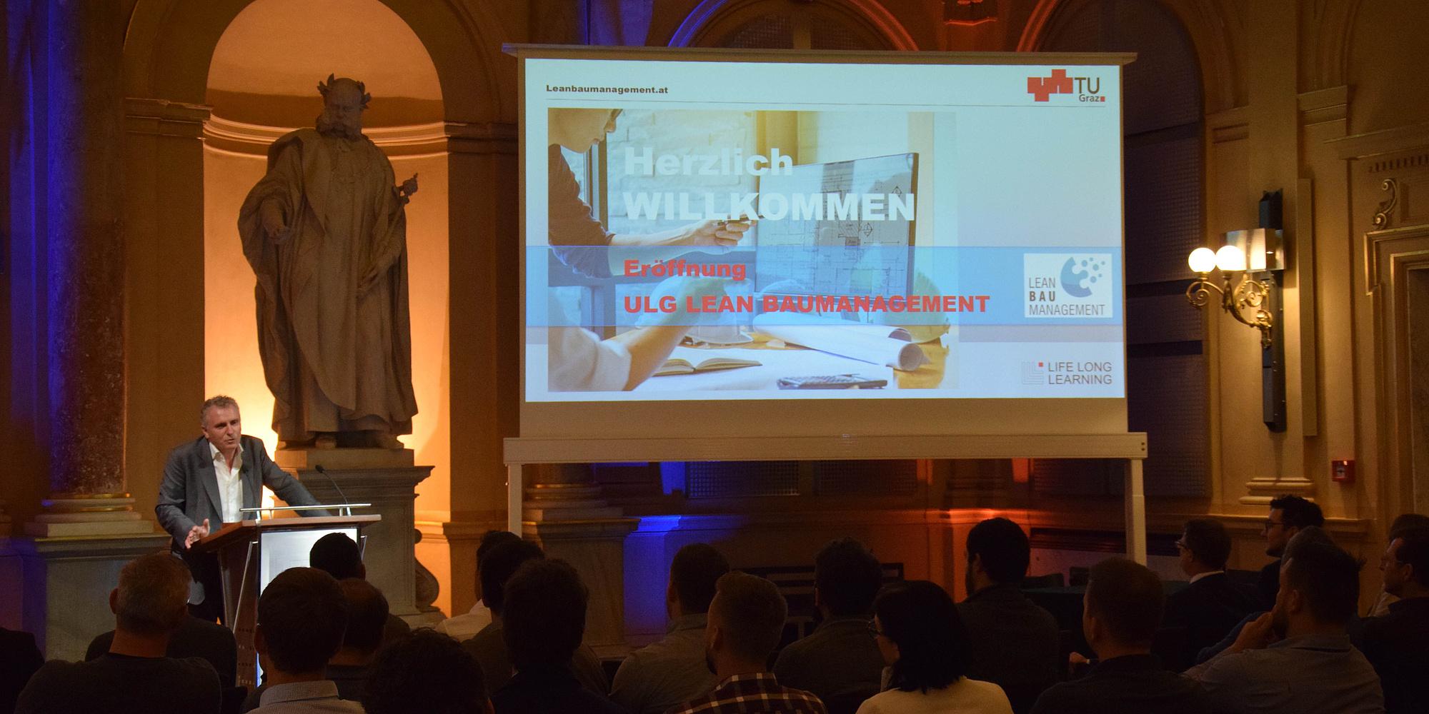 Vortrag in der Aula der TU Graz