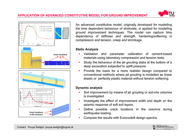 applicaion of advanced constitutive model for ground improvement