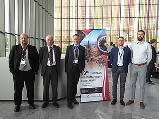 The representatives of our institute at the 13th European Turbomachinery Conference (ETC13), which took place in Lausanne, Switzerland, 8-12 April