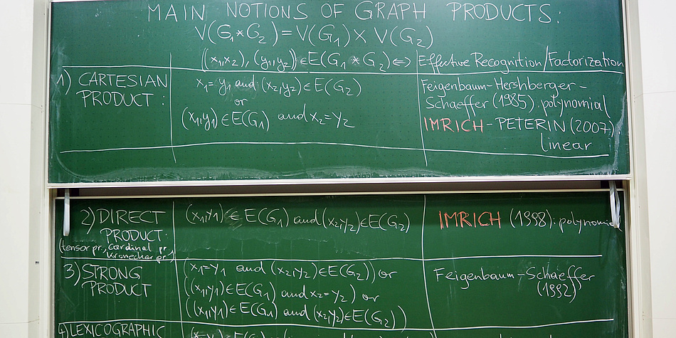 Eine grüne Tafel mit weißem Text.