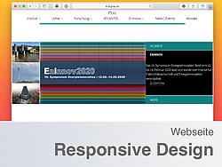 Screenshot der Institutshomepage.