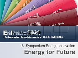 Banner des 16. Symposium Energieinnovation.