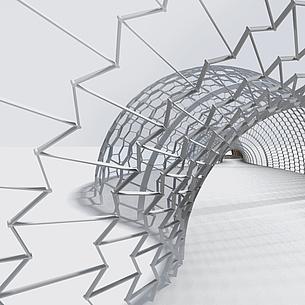 Model of a tunnel. Photo source: TU Graz