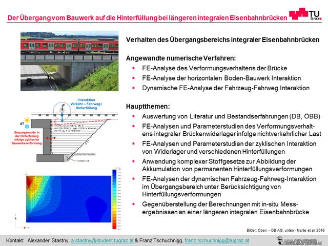 Der Übergang vom Bauwerk auf die Hinterfüllung bei längeren integralen Eisenbahnbrücken
