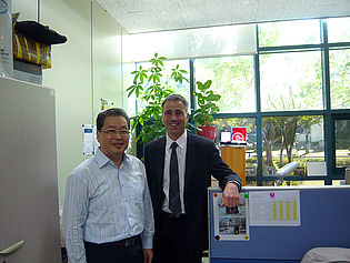 Wolfgang Sanz and Dr. Ahn, head of the Dept. of Eco-Machinery System, during his visit of the Korea Institute of Machinery & Materials in Daejeon, South Korea