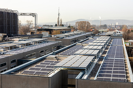 Roofscape with photovoltaic panels