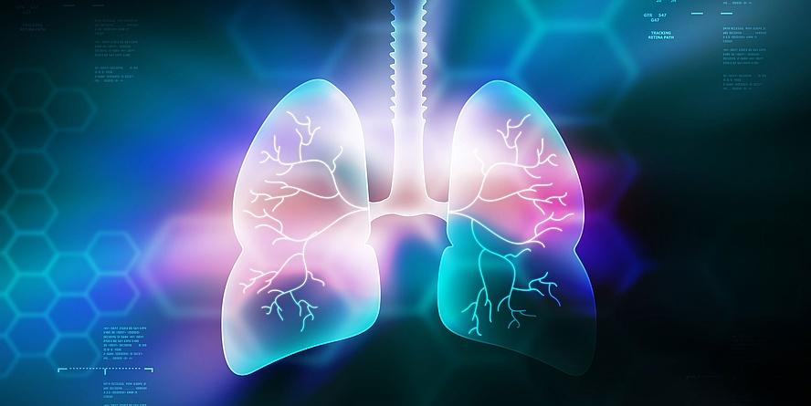 Abstrakte grafische Darstellung einer Lunge