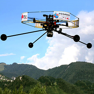 A drone. Photo source: Aerial Vision Group - TU Graz