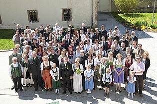 Group photograph at the wedding of our former member Mrs. Maria Elisabeth Collins.