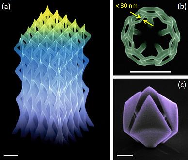 Großaufnahmen von Nanostrutkuren