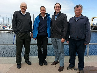 Prof. Wolfgang Sanz with Prof. Max Platzer, Prof. Anthony Gannon and the lab technician John of the Naval Postgraduate School in Monterey, CA, during his stay as a visiting scientist!