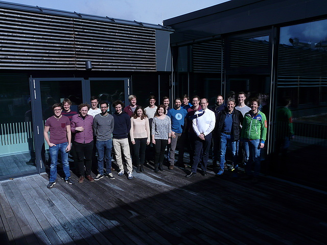 Group picture of the SappZ team, A. Bergmann and M. Kraft.
