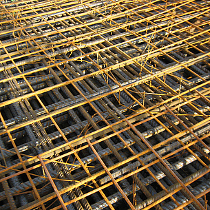 Steel concrete reinforcement. Photo source: Dirk Schlicke