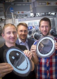 Michael Sternad, Martin Wilkening and Georg Hirtler (from left to right) research successfully at the CD-Laboratory for Lithium Batteries at TU Graz