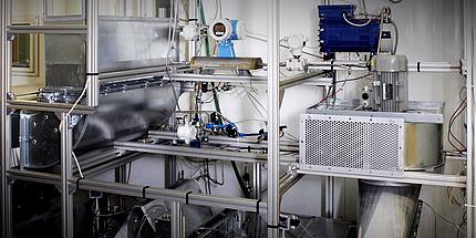 """Systemprüfstand für das Projekt """"GreenHVAC4Rail"""" am Institut für Wärmetechnik der TU Graz."""