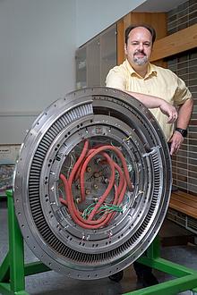 TU Graz-Forscher mit dem Turbine Center Frame