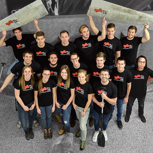 Betonkanu Team, Bildquelle: Betonkanu – TU Graz