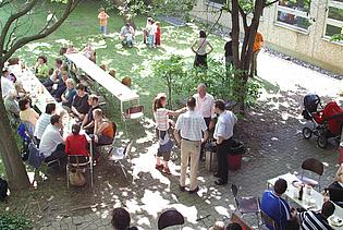 Annual institute's barbecue in July.
