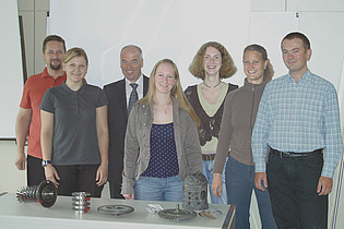 Institute staff with student trainees
