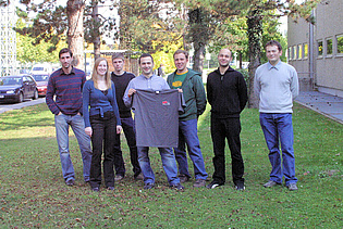 Running team of the Institute for the Graz City Marathon taking place on October 12, 2008