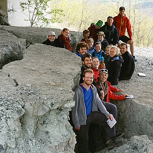 Students of the Bachelor's Degree Programme of Geosciences on a field trip, photo source: TU Graz/IAG