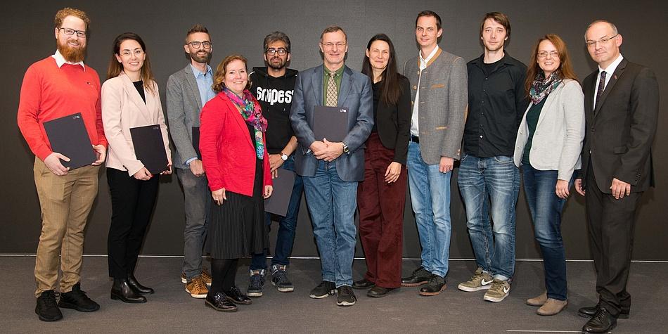 """Sieben Preisträger und vier Preisträgerinnen der """"Mind the Gap"""" Preise 2019"""