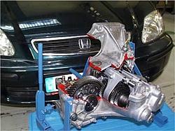 Abbildung des Honda Civic Getriebes