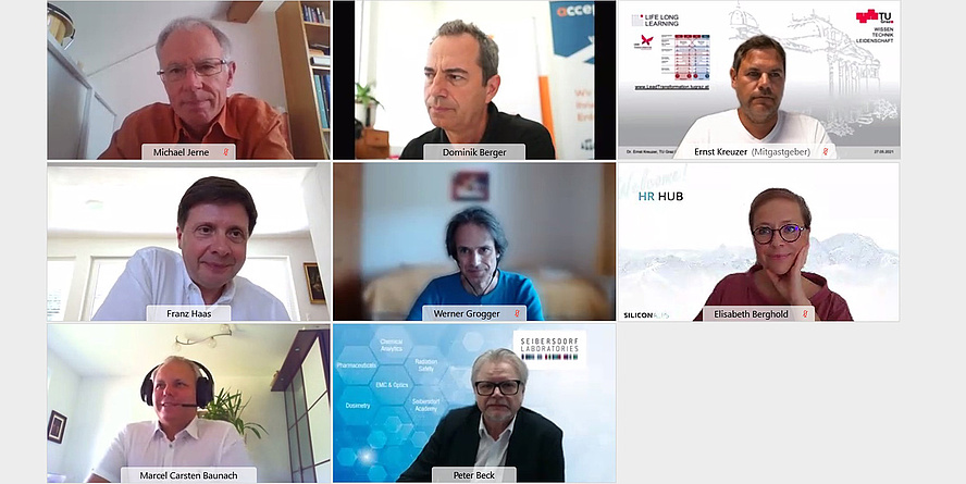 Screenshot of Participants of the network meeting Inno-EBS