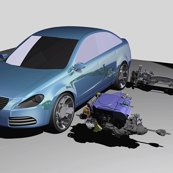 3D-Modell eines Autos. Bildquelle: Hirz
