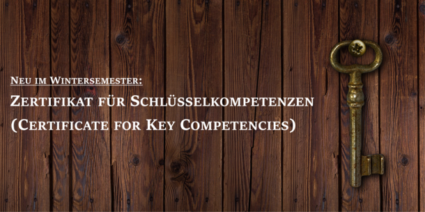 Text in the picture: Certificate for Key Competencies