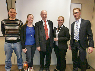 Former colleagues with Prof. Heitmeir! They all graduated recently on the same day! We wish them all the best!