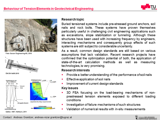 Behaviour of Tension Elements in Geotechnical Enigneering