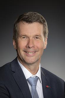 Portrait of Horst Bischof in suit and tie