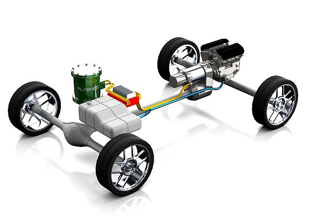 Antriebsstrank eines PKW mit Flywheel