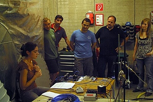 Demonstration of several ignition scenarii, surveyed by a programmable logic controller: normal operation, flame blown out, or no flame at all. This theme was a summer training exercise for a french student from SUPAERO (Audrey Camps, left).