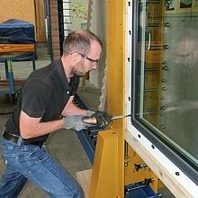 Einbruchversuch, Fenster, Einbruchhemmung, RC-Prüfung EN 1630