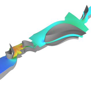 Steady 3D Euler calculation of the 2-stage DREAM test turbine