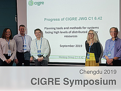 Gruppenbild der Vortragenden der Session C1 des CIGRE Symposiums.