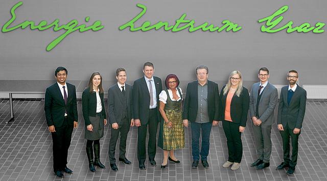 (v.l.n.r.) Karthik BHAT, Eva-Maria SCHERFRANZ, Thomas KLATZER, Udo BACHHIESL, Andrea MOSER, Heinz STIGLER, Petra OCHENSBERGER, Florian REITMAIR, Robert GAUGL