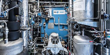 Gasofen, Prozessgaskompressor, Feedgaskonditionierung