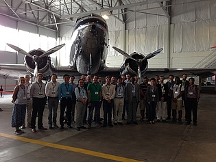 Our colleagues C. Faustmann (3rd from the left) and M. Steiner (4th from the left) with other conference participants at the Delta Flight Museum during AIAA Aviation 2014